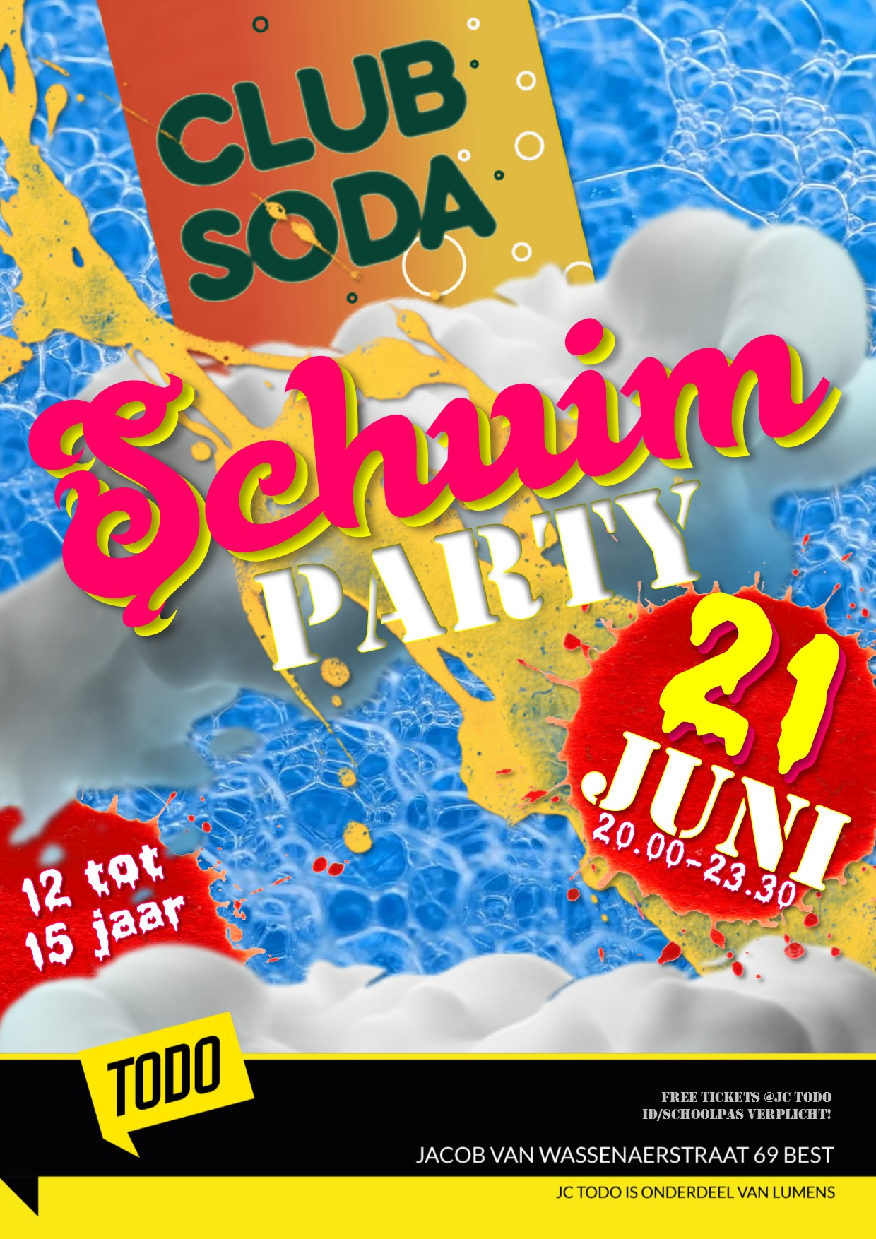 Flyer Schuimparty TODO goed