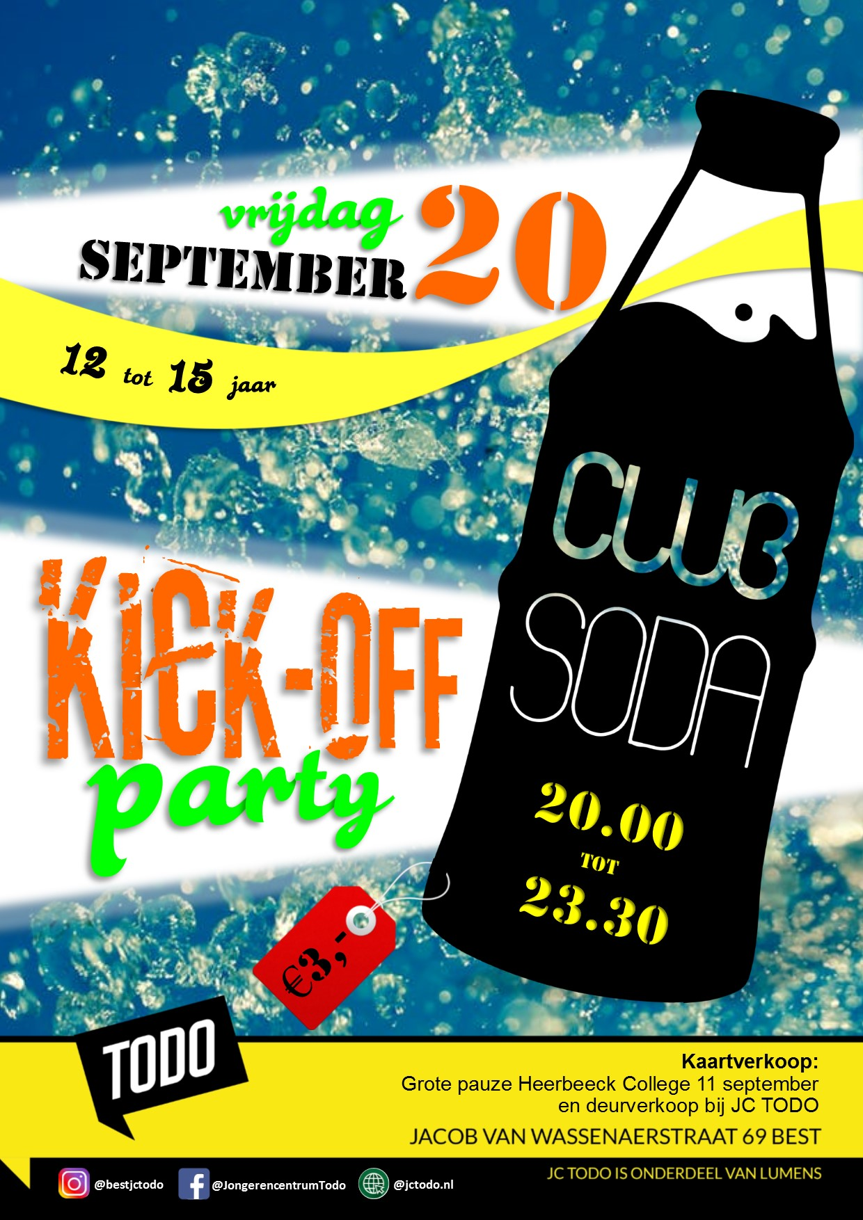 Flyer club Soda Kick off